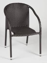 Single Bistro Chair Individual Modern Outdoor Dining Chairs Made Of All Weather Wicker