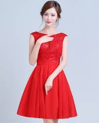 red summer dress short wedding formal dress cw35514 yaaku com