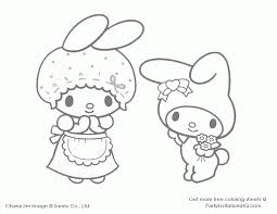 coloring page my melody coloring home