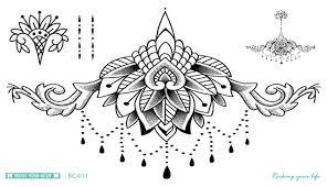 bc 011 latest mandala tattoo waterproof body fresh temporary