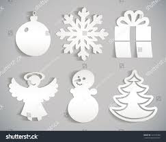 snowflake snowman christmas decorations angel christmas stock