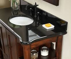 Granite For Bathroom Vanity Antique Wyncote 36 Inch Bathroom Vanity Black Granite