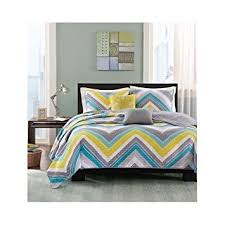 Turquoise Chevron Bedding Amazon Com Modern Coverlet Bedding Set Chevron Stripes With Teal