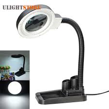 led lighted desk magnifying l crafts glass lens led desk magnifier l light 5x 10x magnifying
