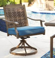 Patio Dining Chairs With Cushions Bay Isle Home Goufes Swivel Patio Dining Chair With Cushion