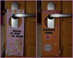 deco porte chambre montage plaque de porte chambre des filles photo de scrap déco