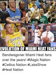Heat Fans Meme - alando onbamemes spor heat peric pc ot evolution of miami heat