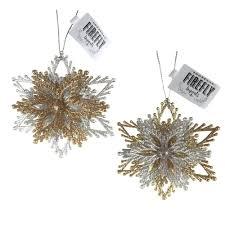 acrylic gliter starburst ornaments gold silver 4 inch