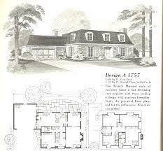 vintage house plans mid century homes 1970s floor picturesque 19