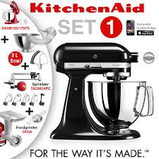 Black Kitchenaid Mixer by Kitchenaid Artisan Stand Mixer Set 1 Onyx Black Culinaris