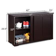 kitchen cabinet sliding doors goplus kitchen cabinet sideboard buffet cupboard wood
