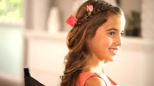 photo cute hair for kids for wedding easy to do flower