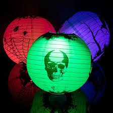 14 scary story color changing paper lanterns lights w