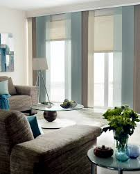 cozy living room in earth tones in combination with the ice blue