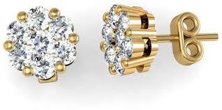 pressure earrings buy 18k yellow gold 0 40ct diamond pressure set stud earrings 22