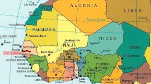 africa map gambia maps education and other information about the gambia