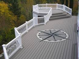 large decks color mattered the two tones of gray decking really