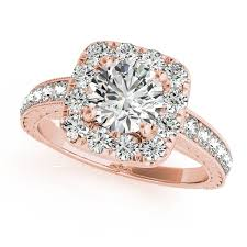 antique rose rings images Rose gold engagement ring fancy vintage diamond with antique filgree jpg