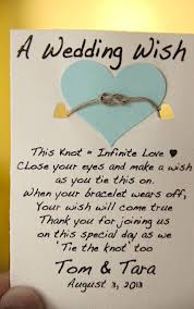 The Knot Favors by Yay A Wedding Wish Bracelet Tie The Knot With Us Wedding