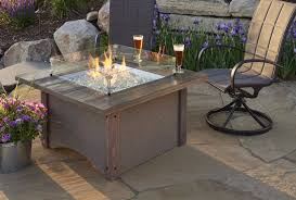 outdoor greatroom fire table outdoor greatroom pine ridge 2424 square fire pit table bbqing com