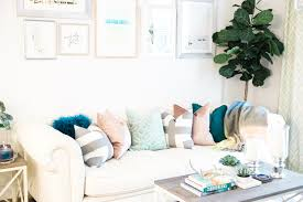 a blogger u0027s harmonious and warm living room design havenly
