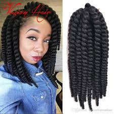 medium size packaged pre twisted hair for crochet braids havana mambo twist crochet braids hair 10inches 12roots kanekalon