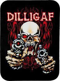 dilligaf skull guns genuine leather patch skull leather patches