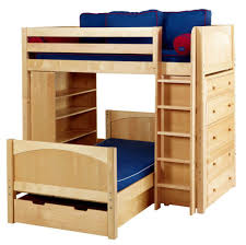 bunk beds wooden loft bed with desk and futon futon bunk bed