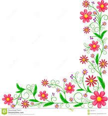 floral corner color clipart