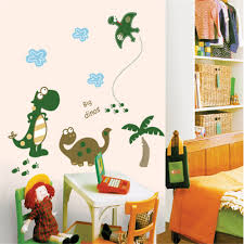 compare prices on dinosaur wall decals for kids rooms online cartoon happy dinosaur vinyl wall stickers for kids rooms children home decor sofa living wall decal