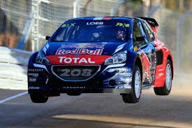 peugeot world rallycross sébastien loeb claims his first win in the peugeot