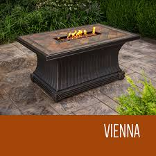 gas fire pit table kit vienna 32 x 52 inch rectangular slate top gas fire pit table