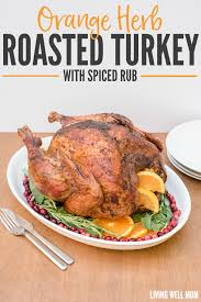 orange herbed turkey with spiced rub