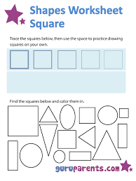 shapes worksheets and flashcards guruparents