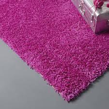 Grand Tapis Conforama by Tapis Fuchsia Shaggy Pop L 60 X L 115 Cm Leroy Merlin