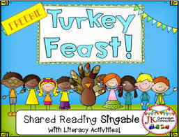 thanksgiving song turkey feast shared reading singable tpt