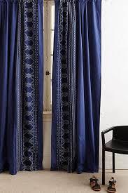 Navy Window Curtains Mosaic Navy Blue Curtain