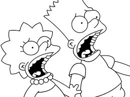 The Simpsons Black White Lisa Color Ins Color Ins