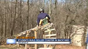 roller coaster for backyard a pair of teenagers built an awesome roller coaster in their