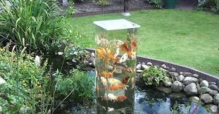 Garden Pond Ideas Creative Ideas Diy Koi Observation Tower In Garden Pond I
