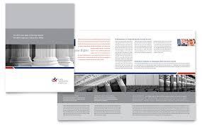 legal u0026 government services brochure template design