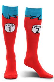 halloween socks dr seuss thing 1 and thing 2 socks purecostumes com