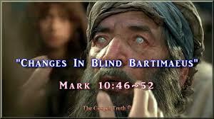 Was Bartimaeus Born Blind Changes In Blind Bartimaeus