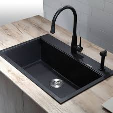 overmount sink on granite kraus kgd 412 31 single basin dual mount drop in or undermount