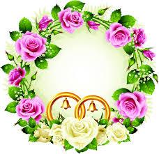 wedding flowers vector free download retro floral wedding