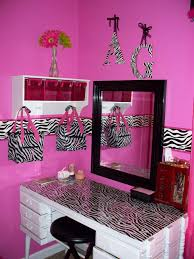 Bright Pink Bathroom Accessories by Fabulous Zebra Pattern And Pink Touch For Unique Bathroom Decor