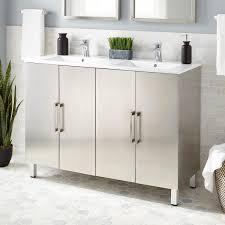 stainless steel vanities bathroom vanities signature hardware