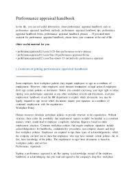 Appraisal Rebuttal Letter performance appraisal handbook 1 638 jpg cb 1433649054