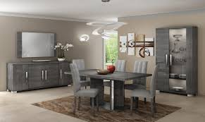 modern italian dining room sets with grey color schemes using