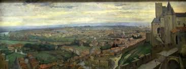 chambre de commerce carcassonne les peintures panoramiques de carcassonne réalisées en 1952 par
